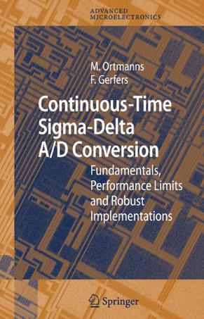 Continuous time sigma delta adc thesis
